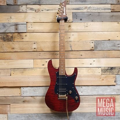 Ibanez SLM10 TRM Scott LePage Signature Model Electric Guitar - Transparent Red Matte - Front