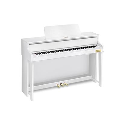 Casio GP300 Celviano Grand Hybrid Piano (White Edition) Side View