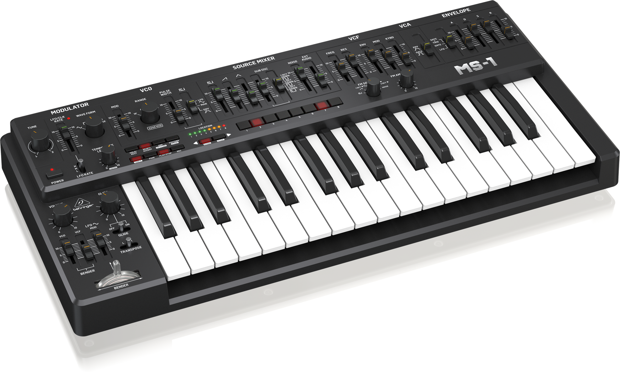 Behringer MS101 Analog Synth - Black - Right