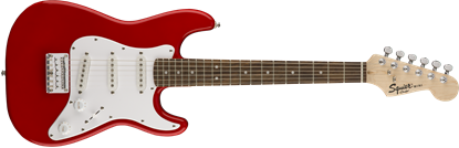 Squier Mini Stratocaster Electric Guitar LRL Torino Red - Front