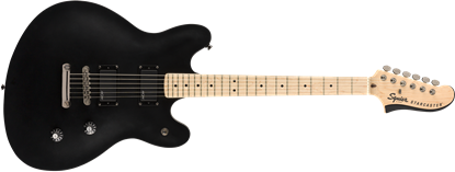 Squier Contemporary Active Starcaster Electric Guitar MN Flat Black - Front
