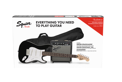 Squier Stratocaster 10G Electric Guitar Pack Black