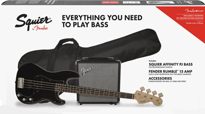 Squier Affinity Precision Bass PJ Pack Black