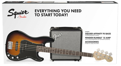 Squier Affinity Precision Bass PJ Pack Brown Sunburst