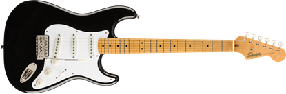 Squier Classic Vibe 50s Stratocaster Electric Guitar MN Black - Front