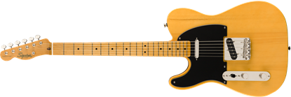 Squier Classic Vibe 50s Telecaster Left Handed Electric Guitar MN Butterscotch Blonde - Front