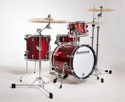 Ludwig Breakbeats 3-piece 16 inch Shell Pack Drum Kit in Red Sparkle