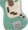 Fender JMJ Justin Meldal-Johnsen Signature Road Worn Mustang Bass Guitar RW Faded Daphne Blue - Body