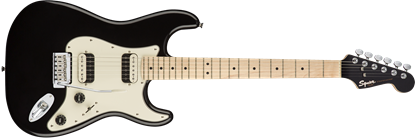 Squier Contemporary Stratocaster HH Electric Guitar MN Black Metallic - Front