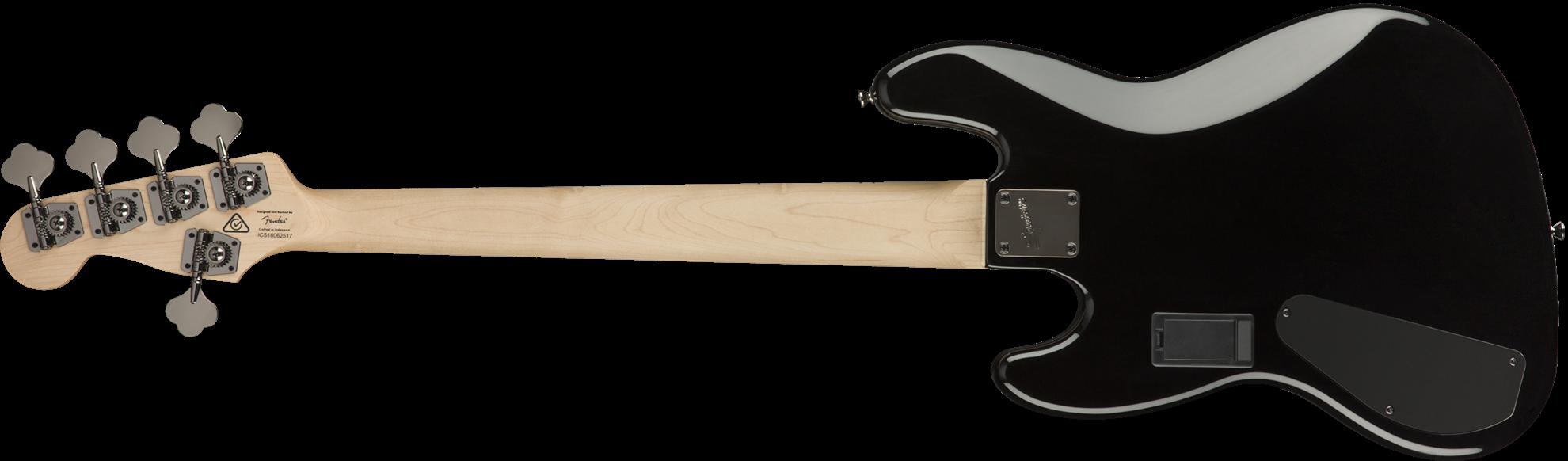 Squier Contemporary Active Jazz Bass Guitar HH V Black - Back