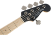 Squier Contemporary Active Jazz Bass Guitar HH V Black - Head