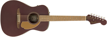 Fender Malibu Player Acoustic Guitar Burgundy Denim WN - Front