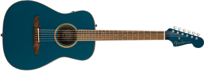 Fender California Malibu Classic Acoustic Guitar in Cosmic Turquoise - Front