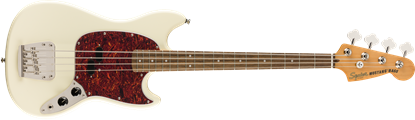 Squier Classic Vibe 60s Mustang Bass Guitar LRL Olympic White - Front