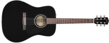 Fender CD-60 Dreadnought Acoustic Guitar with Case - Black - Front