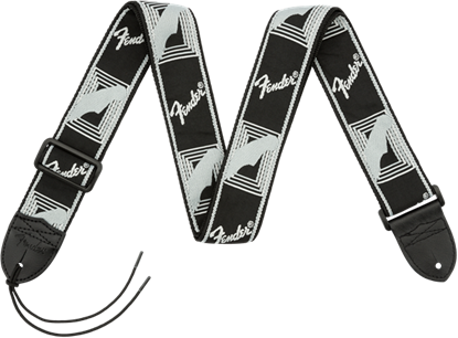 Fender 2 inch Monogrammed Guitar Strap Black/Light Grey/Dark Grey