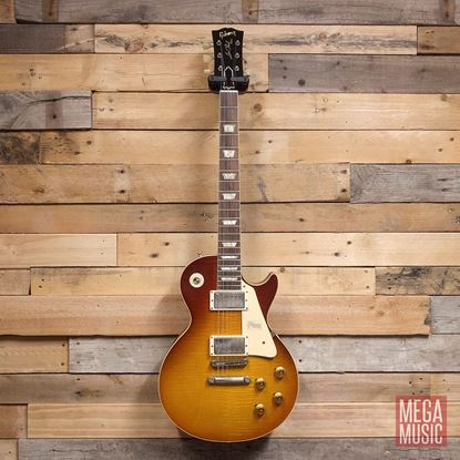 Gibson Custom Shop 60th Anniversary Les Paul Standard Electric Guitar VOS Orange Sunset Fade - Front
