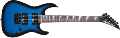 Jackson JS Series Dinky Minion JS1X Electric Guitar AM Metallic Blue Burst - Front