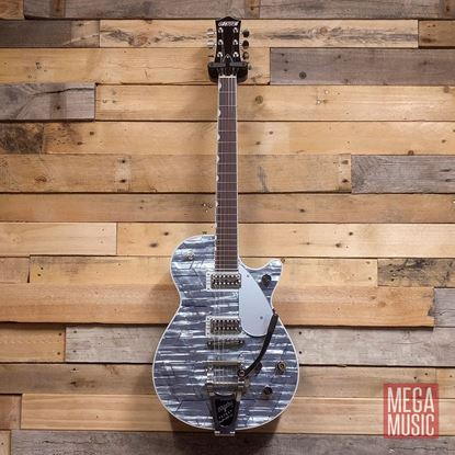 Gretsch G6129T Players Edition Jet FT Electric Guitar with Bigsby - Rosewood Fingerboard - Light Blue Pearl