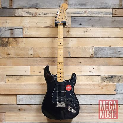 Squier Classic Vibe 70s Stratocaster HSS Electric Guitar MN Black Front