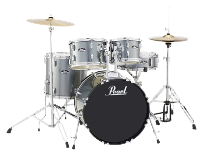 Pearl Roadshow-X 20in Fusion 5-Piece Drum Kit Charcoal Metallic - Front