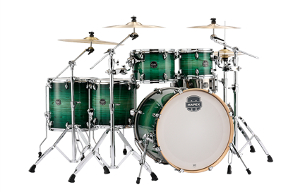 MAPEX Armory 6-Piece Shell Pack Drum Kit with 22 inch Kick - Emerald Green- Left