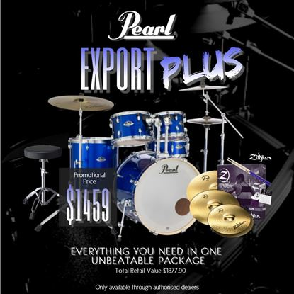 Pearl Export Plus 22in Fusion Plus 5 Piece Drum Kit