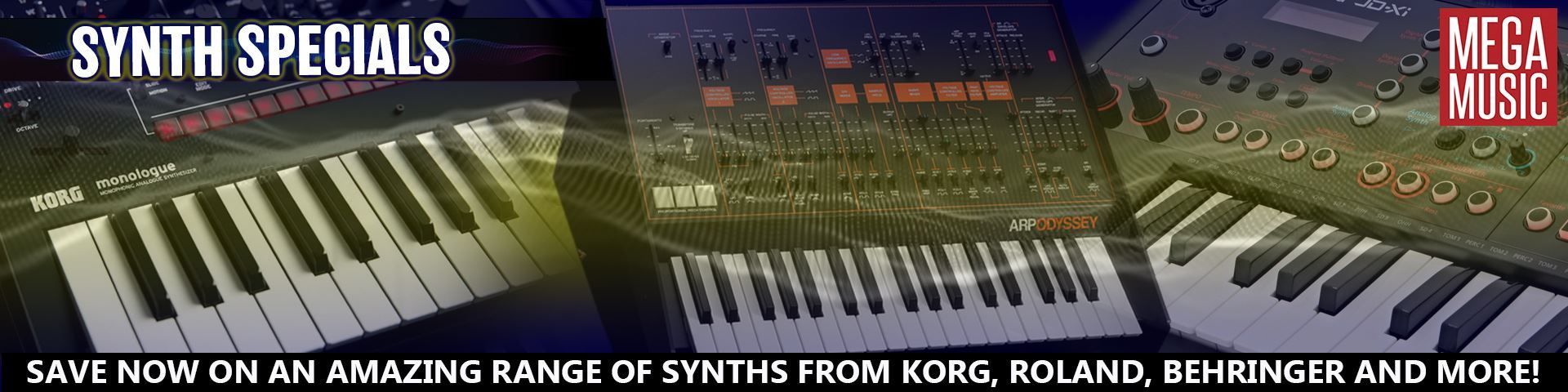 Synthesizers - Perth | Mega Music Online