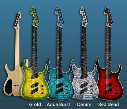 Ormsby HypeGTR Multiscale 7-String Electric Guitar Aqua Burst (6 Strings Shown for illustrative purpose only)