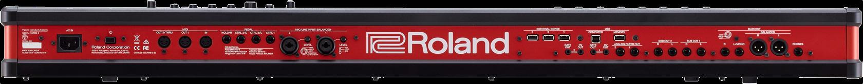 Roland FANTOM-6 Synth Workstation Keyboard - Rear