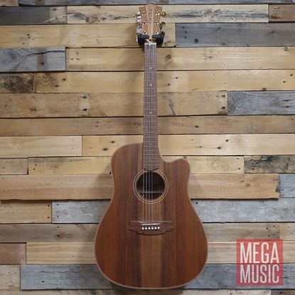 Cole Clark Fat Lady 2 Acoustic Guitar - All Blackwood Front
