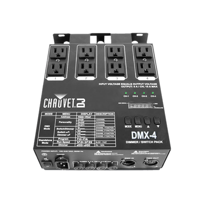 Chauvet DMX-4 4-channel Dimmer/Relay Pack - Front