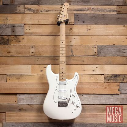 Fender EOB Ed O''Brien Sustainer Signature Stratocaster Electric Guitar MN Olympic White - Front