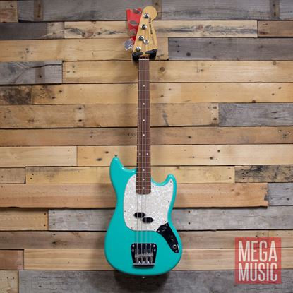 Fender Vintera 60s Mustang Bass Guitar PF - Sea Foam Green Front