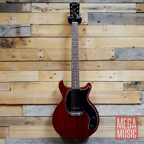 Gibson Les Paul Junior Tribute Double Cut Electric Guitar - Worn Cherry - Front