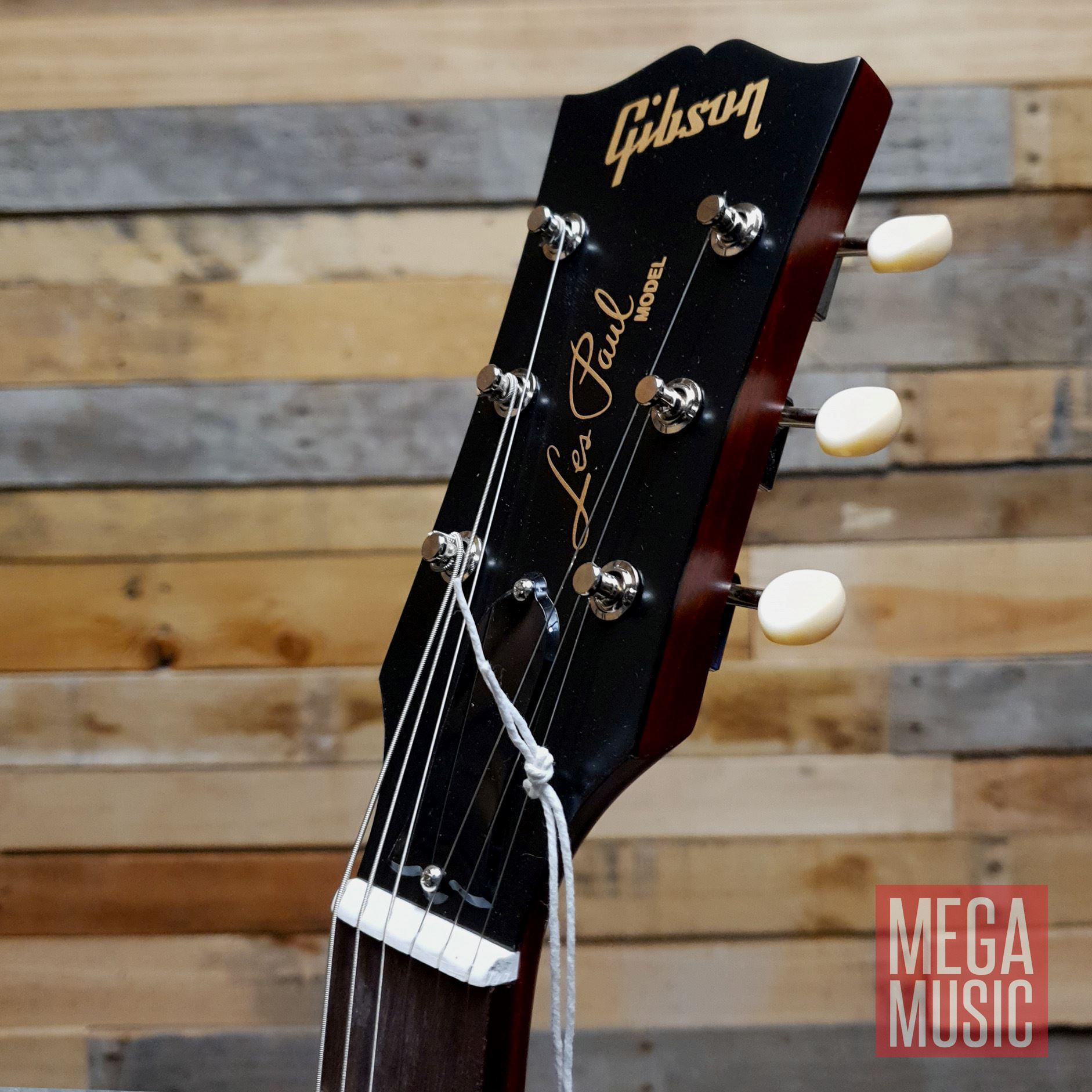 Gibson Les Paul Junior Tribute Double Cut Electric Guitar - Worn Cherry - Front Head