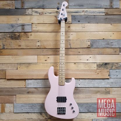 Fender Flea Signature Active Jazz Bass MN Satin Shell Pink - Front