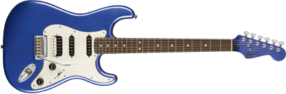 Squier Contemporary Stratocaster HSS Electric Guitar Ocean Blue Metallic - Front