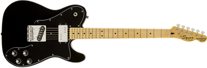 Squier Vintage Modified Telecaster Custom Electric Guitar - Maple Neck - Black - Front