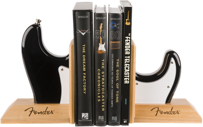 Fender Stratocaster Body Bookends Black