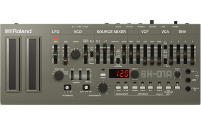 Roland SH-01A Boutique Synthesizer - Top Front