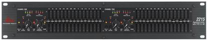 DBX 2215 Dual Channel 2/3 Octave Graphic Equalizer/Limiter - Front
