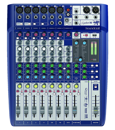 Soundcraft Signature 10 Channel Mixer with USB & FX - Front