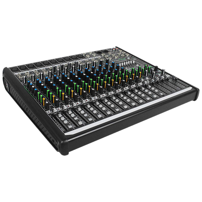 Mackie ProFX16 V2 16-channel 4-Bus Effects Mixer with USB - Angle