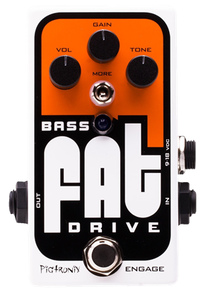 Pigtronix Bass Fat Drive Guitar Effects Pedal - Front
