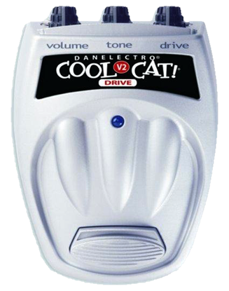 DanElectro Cool Cat Drive 2 Guitar Effects Pedal - Top Front
