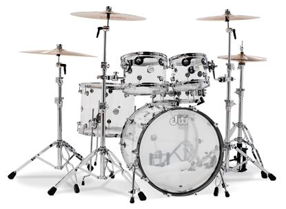 DW Design Series 22 iinch 5-Piece Drum Kit in Clear Acrylic