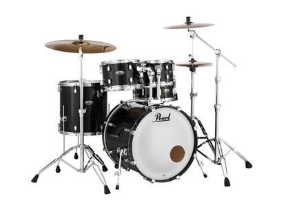 Pearl DMP925SPC-234K Decade Maple 22inch Fusion Plus 5-Piece Drum Kit with Hardware in Black Ice - Front
