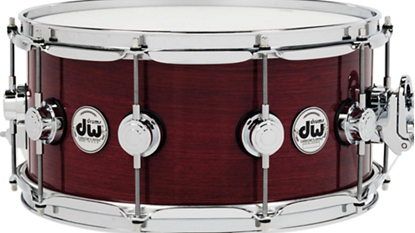 DW Collectors Lacquer Custom 6.5 x14 Snare Drum Purple Heart Cr/Hw - Front