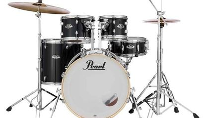 Pearl Export Series 20in Fusion Kit in Jet Black - Comes with HWP830, D-730S & PCP-204 (Cymbals)